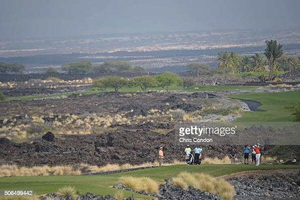 KA'UPULEHUKONA HI JANUARY 23 Davis Love III tees off on the 11th hole during the final round of the PGA TOUR Champions Mitsubishi Electric...