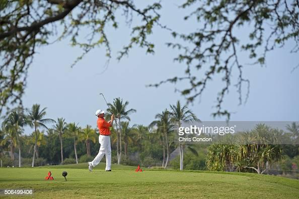 KA'UPULEHUKONA HI JANUARY 23 Davis Love III tees off on the 12th hole during the final round of the PGA TOUR Champions Mitsubishi Electric...
