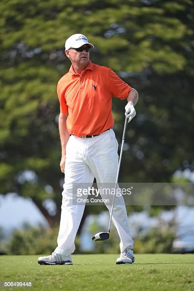 KA'UPULEHUKONA HI JANUARY 23 Davis Love III tees off on the 4th hole during the final round of the PGA TOUR Champions Mitsubishi Electric...