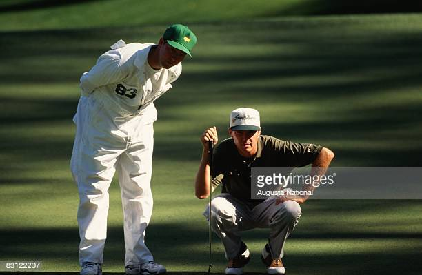 Davis Love Iii With His Caddie Mark Love During The 1995 Masters Tournament