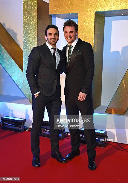 Davood Ghadami and James Bye attend the 21st National Television Awards at The O2 Arena on January 20 2016 in London England