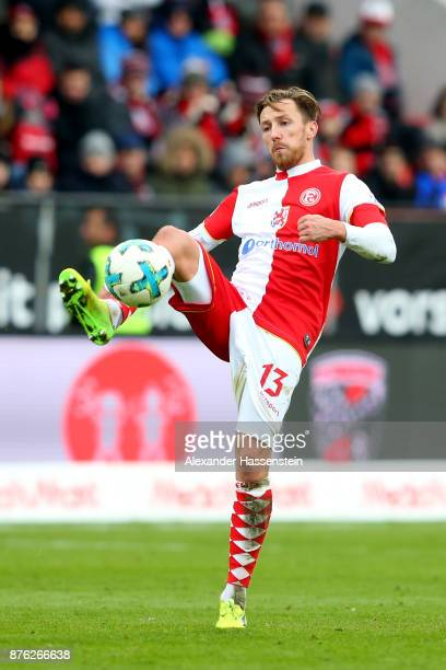 Davor Lovren of Duesseldorf runs with the ball during the Second Bundesliga match between FC Ingolstadt 04 and Fortuna Duesseldorf at Audi Sportpark...