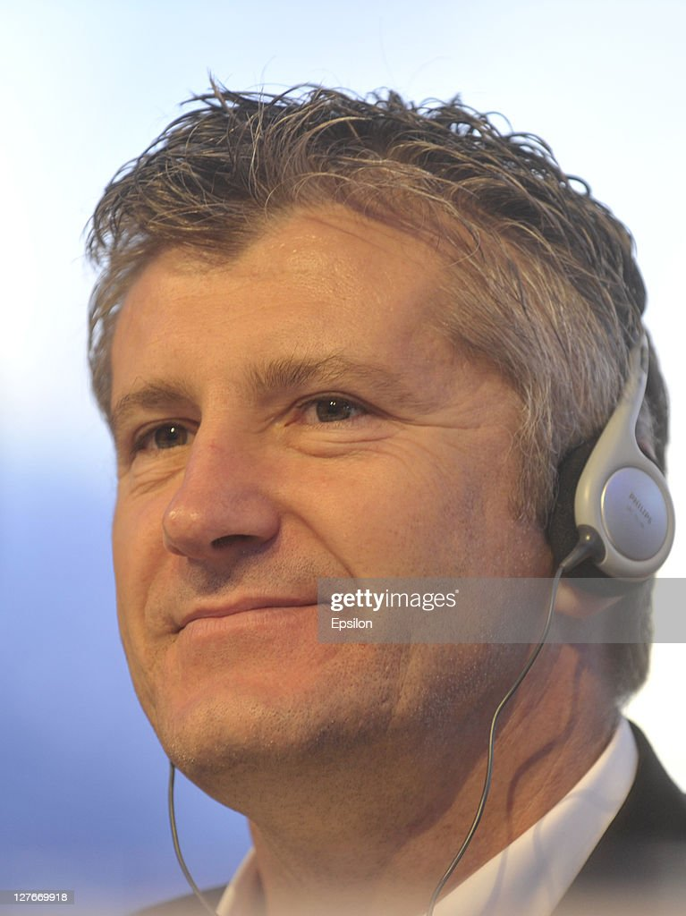 Davor Suker during a press conference at the UEFA Champions League Trophy Tour 2011 on September 30, 2011 in Kiev, Ukraine.