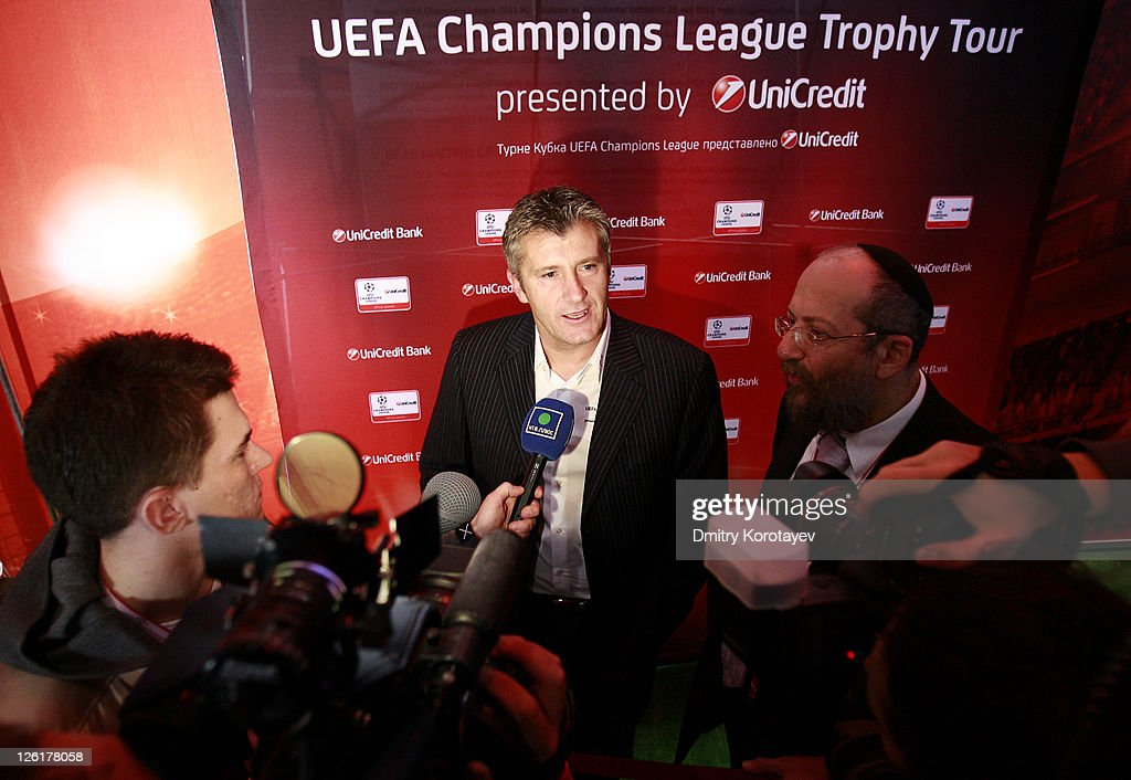 Davor Suker during the UEFA Champions League Trophy Tour 2011 on September 23, 2011 in Moscow, Russia.