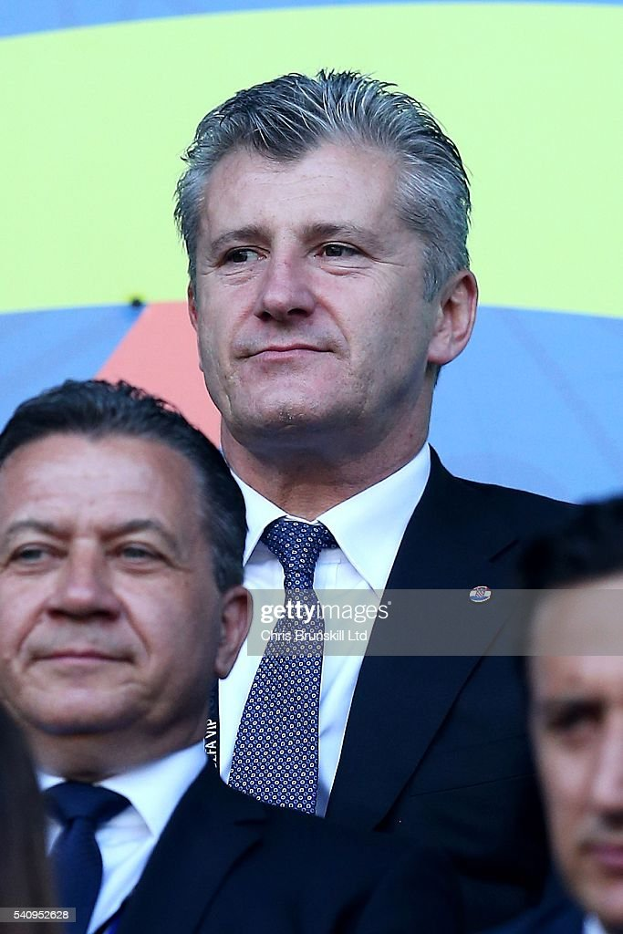 <a gi-track='captionPersonalityLinkClicked' href=/galleries/search?phrase=Davor+Suker&family=editorial&specificpeople=235899 ng-click='$event.stopPropagation()'>Davor Suker</a> looks on during the UEFA Euro 2016 Group D match between the Czech Republic and Croatia at Stade Geoffroy-Guichard on June 17, 2016 in Saint-Etienne, France.