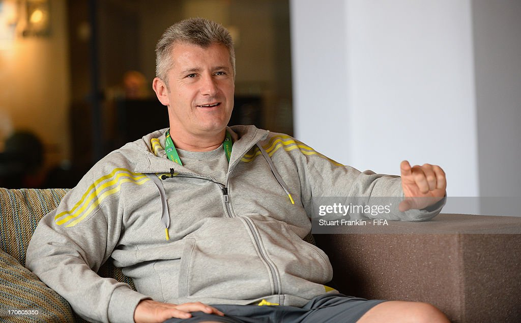 <a gi-track='captionPersonalityLinkClicked' href=/galleries/search?phrase=Davor+Suker&family=editorial&specificpeople=235899 ng-click='$event.stopPropagation()'>Davor Suker</a>, President of the Croatian football federation during an interview with FIFA.com prior to the start of FIFA Confederations Cup Brazil 2013 on June 15, 2013 in Rio de Janeiro, Brazil.