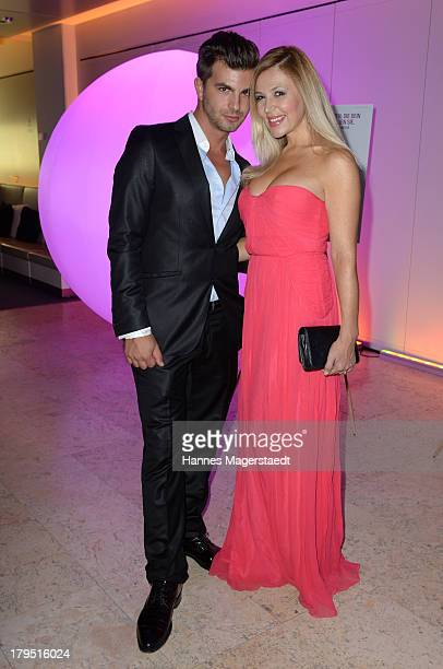 Davorka Tovilo and her boyfriend Sasha Maki Pasajlic attends the Universal Channel launch party at Brienner Forum on September 4 2013 in Munich...