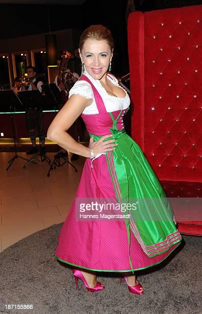 Davorka Tovilo attends the Daniel Fendler Fashion Show 'Huettenzauber' at the Leonardo Royal Hotel on November 6 2013 in Munich Germany