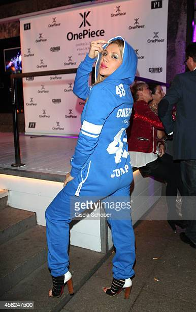 Davorka Tovilo wearing a OnePiece jumpsuit during the 'Comfort Brings Confidence' OnePiece Launch Party at P1 on November 1 2014 in Munich Germany