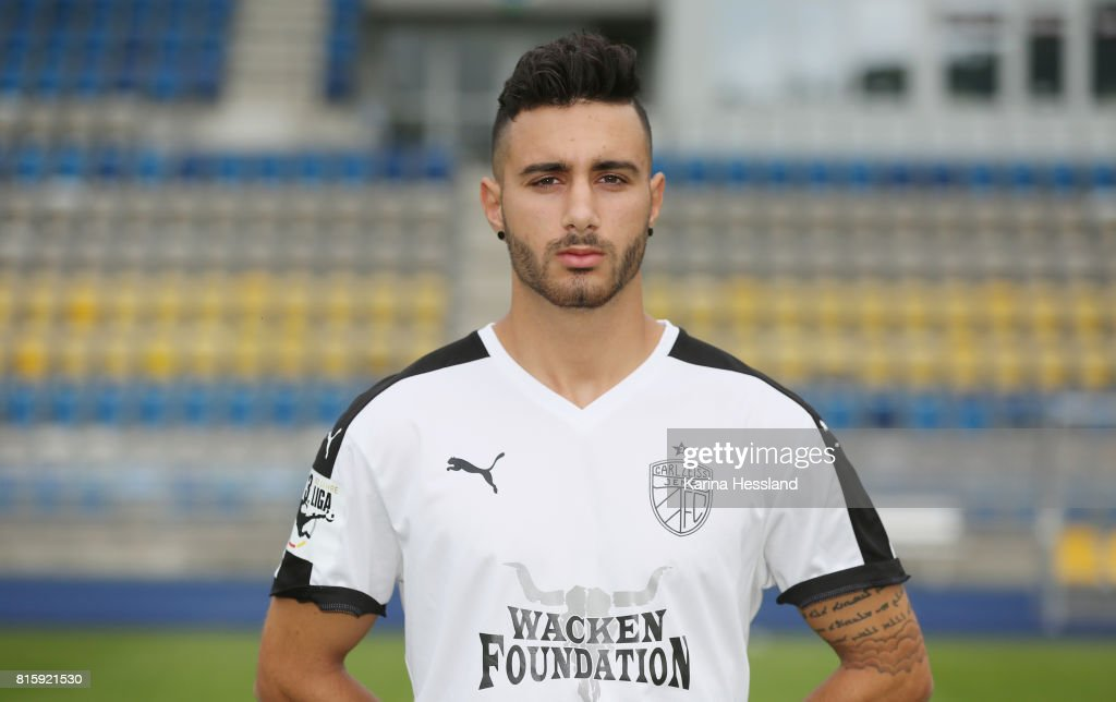 Davud Tuma of Carl Zeiss Jena poses during the team presentation at on July 17, 2017 in Jena, Germany.