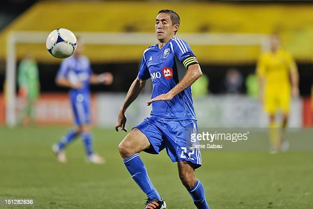 Davy Arnaud of the Montreal Impact controls the ball against the Columbus Crew on September 1 2012 at Crew Stadium in Columbus Ohio