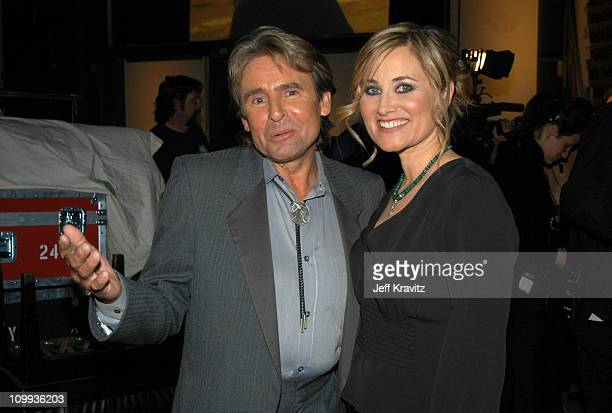 Davy Jones and Maureen McCormick during The TV Land Awards Backstage at Hollywood Palladium in Hollywood CA United States