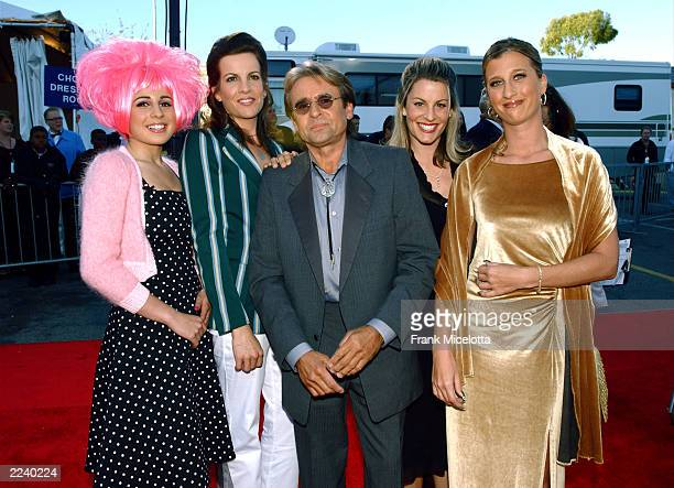 Davy Jones of The Monkees poses with his daughters Anabel Talia and Sarah Jones and friend Renee Favor at the TV Land Awards 2003 at the Hollywood...