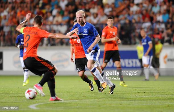Davy Klaassen in action during the UEFA Europa League Qualifier between MFK Ruzomberok and Everton on August 3 2017 in Ruzomberok Slovakia