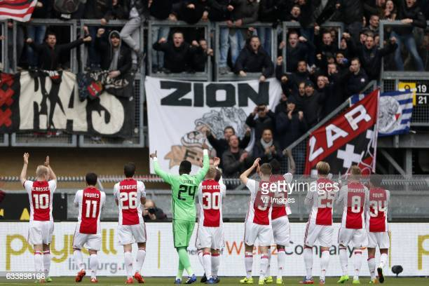 Davy Klaassen of Ajax Amin Younes of Ajax Nick Viergever of Ajax Andre Onana of Ajax Donny van de Beek of Ajax Joel Veltman of Ajax Davinson Sanchez...