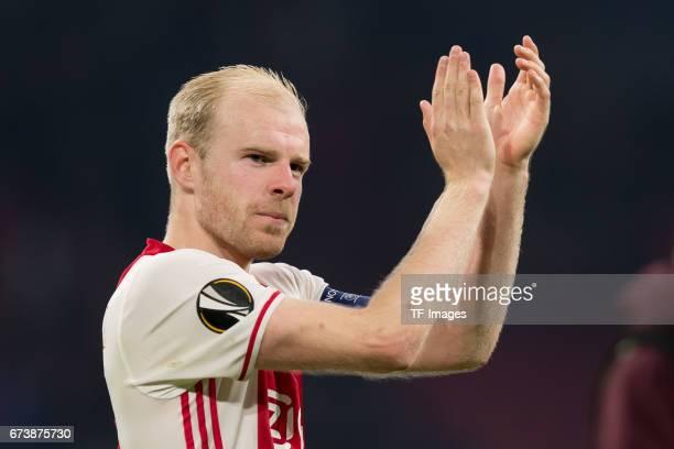 Davy Klaassen of Ajax Amsterdam gestures during the UEFA Europa League Quarter Final first leg match between Ajax Amsterdam and FC Schalke 04 at...