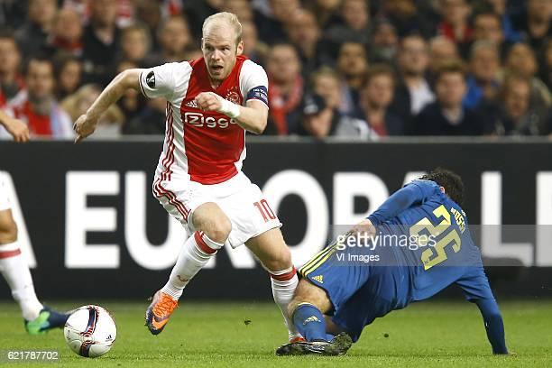 Davy Klaassen of Ajax Amsterdam Giuseppe Rossi of Celta de Vigoduring the UEFA Europa League group G match between Ajax Amsterdam and Celta de Vigo...