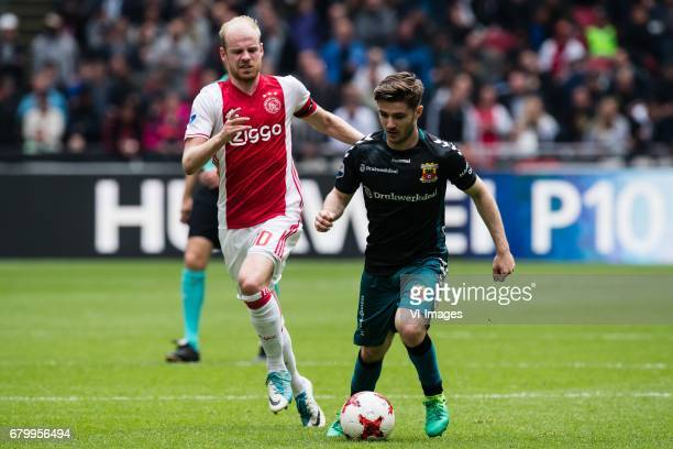 Davy Klaassen of Ajax Daniel Crowley of Go Ahead Eaglesduring the Dutch Eredivisie match between Ajax Amsterdam and Go Ahead Eagles at the Amsterdam...