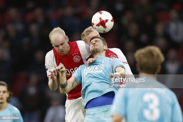 Davy Klaassen of Ajax Donny van de Beek of Ajax Mateusz Klich of FC Twente Joachim Andersen of FC Twenteduring the Dutch Eredivisie match between...