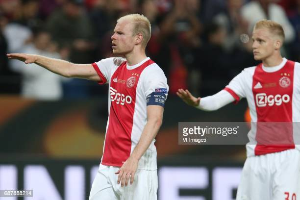 Davy Klaassen of Ajax Donny van de Beek of Ajaxduring the UEFA Europa League final match between Ajax Amsterdam and Manchester United at the Friends...