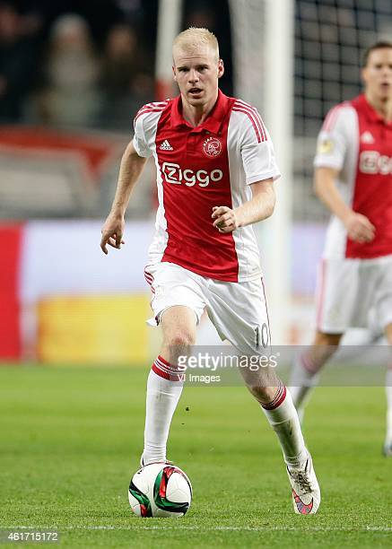 Davy Klaassen of Ajax during the Dutch Eredivisie match between Ajax Amsterdam and FC Groningen at the Amsterdam Arena on January 16 2015 in...