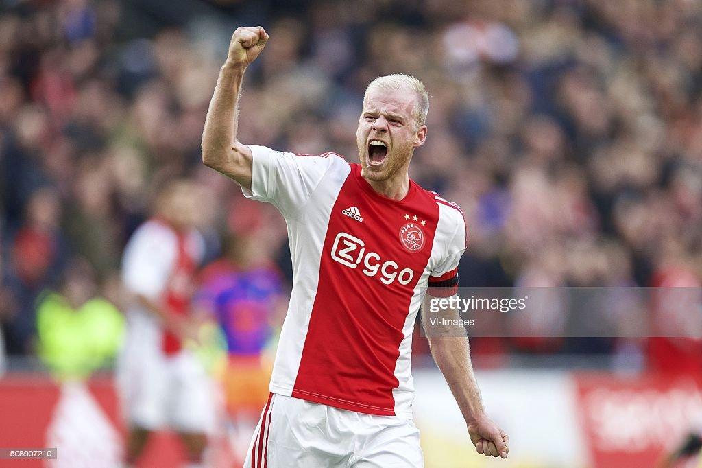 Davy Klaassen of Ajax during the Dutch Eredivisie match between Ajax Amsterdam and Feyenoord Rotterdam at the Amsterdam Arena on February 07, 2016 in Amsterdam, The Netherlands