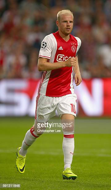 Davy Klaassen of Ajax in action during the UEFA Champions League Playoff 1st Leg match between Ajax and Rostov at Amsterdam Arena on August 16 2016...