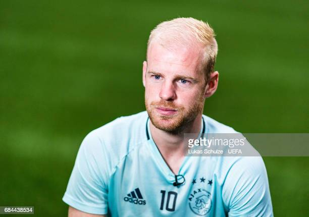 Davy Klaassen of Ajax speaks to the media during the Ajax Media Day on May 18 2017 in Amsterdam Netherlands