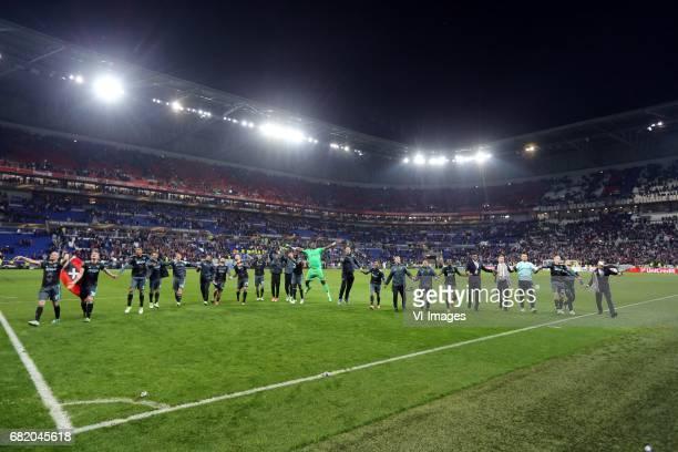 Davy Klaassen of AjaxMatthijs de Ligt of Ajax Kenny Tete of AjaxAmin Younes of Ajax Nick Viergever of Ajax Jairo Riedewald of Ajax Lasse Schone of...
