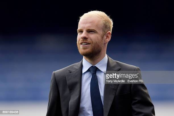 Davy Klaassen of Everton arrives before the Premier League match between Everton and Burnley at Goodison Park on October 1 2017 in Liverpool England