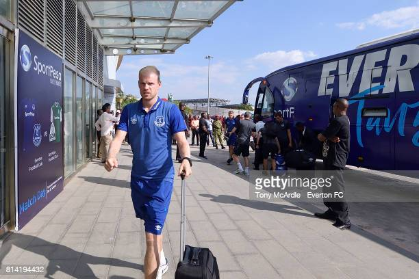 Davy Klaassen of Everton arrives for the preseason match between Everton and Gor Mahia in DarEsSalaam on July 12 2017 in Tanzania