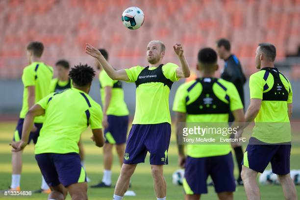 Davy Klaassen of Everton during the Everton training session in DarEsSalaam on July 12 2017 in Tanzania