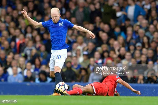 Davy Klaassen of Everton during the Pre Season Friendly match between Everton and Sevilla at Goodison Park on August 6 2017 in Liverpool England