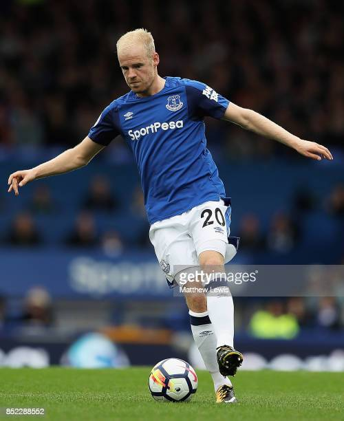 Davy Klaassen of Everton in action during the Premier League match between Everton and AFC Bournemouth at Goodison Park on September 23 2017 in...