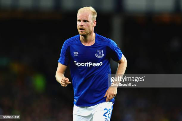 Davy Klaassen of Everton in action during the UEFA Europa League Qualifying PlayOffs round first leg match between Everton FC and Hajduk Split at...