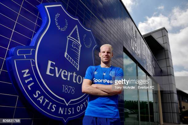 Davy Klaassen of Everton poses for a photo at USM Finch Farm on JULY 31 2017 in Halewood England