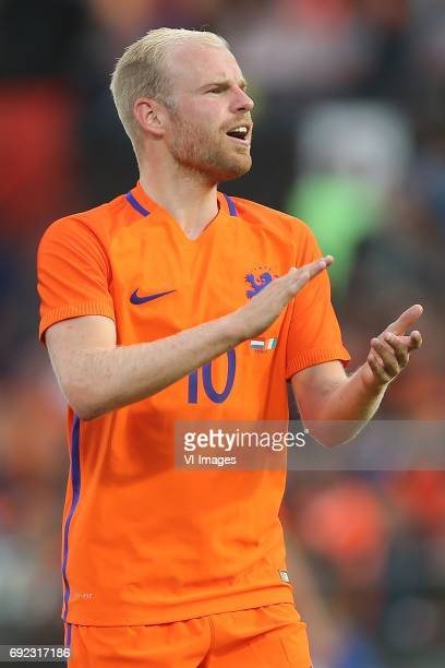 Davy Klaassen of Hollandduring the friendly match between The Netherlands and Ivory Coast at the Kuip on June 4 2017 in Rotterdam The Netherlands