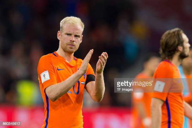Davy Klaassen of Netherlands gestures during the FIFA 2018 World Cup Qualifier between Netherlands and Sweden at Amsterdam ArenA on October 10 2017...