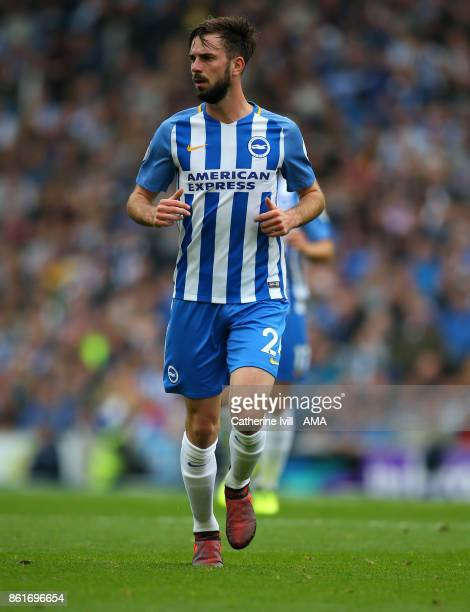Davy Propper of Brighton and Hove Albion during the Premier League match between Brighton and Hove Albion and Everton at Amex Stadium on October 15...