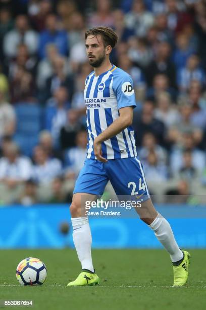 Davy Propper of Brighton and Hove Albion in action during the Premier League match between Brighton and Hove Albion and Newcastle United at Amex...