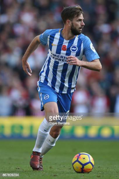 Davy Propper of Brighton and Hove Albion in action during the Premier League match between Brighton and Hove Albion and Southampton at Amex Stadium...