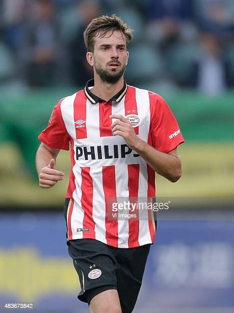 Davy Propper of PSV during the Dutch Eredivisie match between ADO Den Haag and PSV Eindhoven at Kyocera stadium on August 11 2015 in The Hague The...