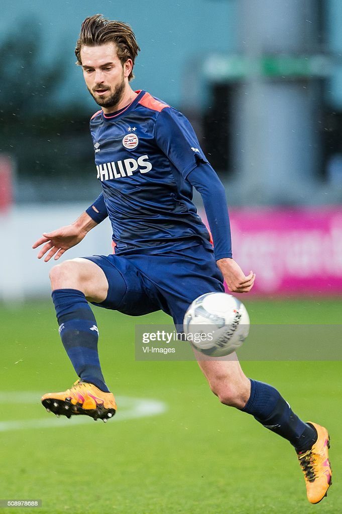 Davy Propper of PSV during the Dutch Eredivisie match between FC Utrecht and PSV Eindhoven at the Galgenwaard Stadium on February 07, 2016 in Utrecht, The Netherlands