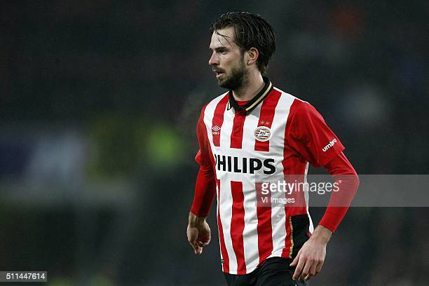Davy Propper of PSV during the Dutch Eredivisie match between PSV Eindhoven and Heracles Almelo at the Phillips stadium on February 20 2016 in...