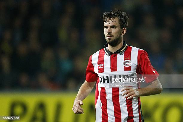 Davy Propper of PSV during the Dutch Eredivisie match between SC Cambuur Leeuwarden and PSV Eindhoven at the Cambuur Stadium on September 21 2015 in...