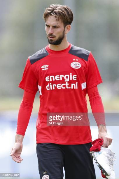 Davy Propper of PSV during the preseason summer training camp of PSV Eindhoven at Stade StMarc on July 11 2017 in Bagnes Switzerland