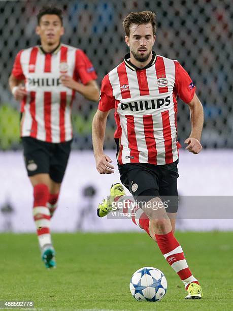 Davy Propper of PSV Eindhoven during the UEFA Champions League group B match between PSV Eindhoven and Manchester United on September 15 2015 at the...