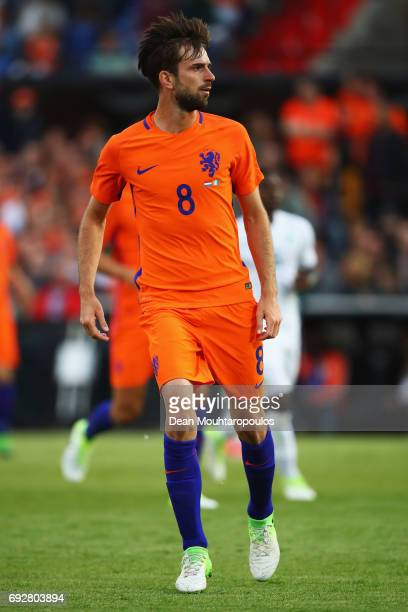 Davy Propper of the Netherlands in action during the International Friendly match between the Netherlands and Ivory Coast held at De Kuip or Stadion...