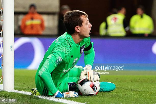 Davy Roef goalkeeper of RSC Anderlecht pictured during the Jupiler Pro League match between RSC Anderlecht and KV Oostende at the Constant Vanden...