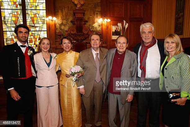 Davy Vetter Dominique Blanc Kanee Danevong Francois Florent Robert Hossein Jacques Weber and Candice Patou attend the Wedding of Francois Florent And...